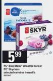 PC Blue Menu Smoothie Bars Or PC Skyr Bars - 6's