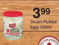 Strub's Pickled Eggs - 500ml