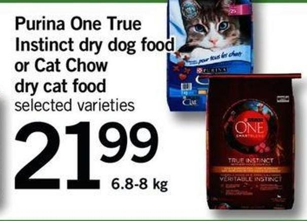 Purina One True Instinct Dry Dog Food Or Cat Chow Dry Cat Food - 6.8-8 Kg