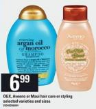 Ogx - Aveeno Or Maui Hair Care Or Styling