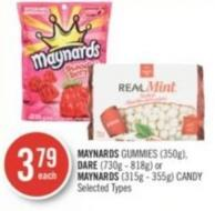 Maynards Gummies (350g) - Dare (730g - 818g) or Maynards (315g - 355g) Candy