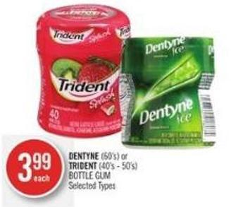 Dentyne (60's) or Trident (40's - 50's) Bottle GUM