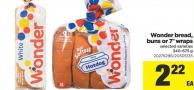 Wonder Bread - Buns Or 7in Wraps - 340-675 g