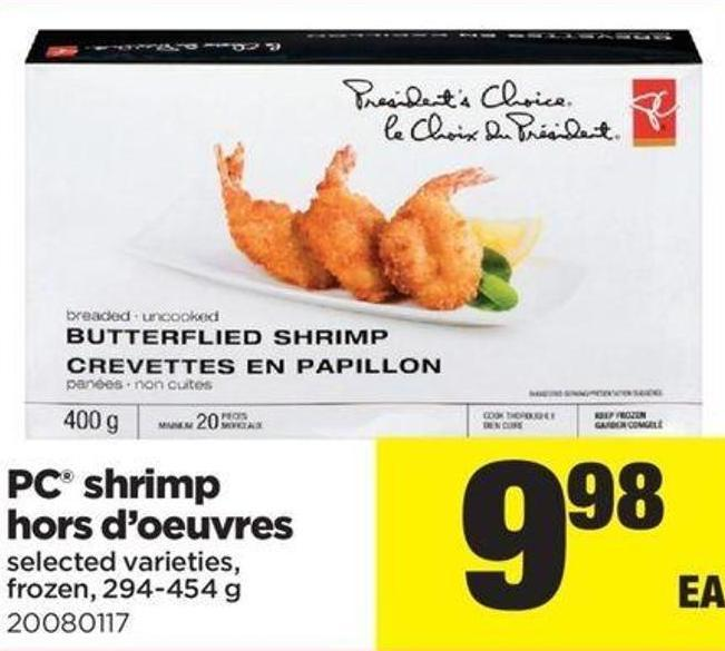 PC Shrimp Hors D'oeuvres - 294-454 g