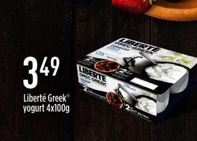 Liberté Greek Yogurt - 4x100g