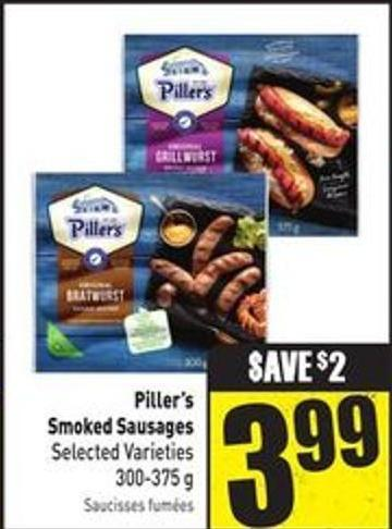Piller's Smoked Sausages Selected Varieties 300-375 g