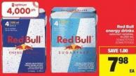 Red Bull Energy Drinks - 4x250 mL