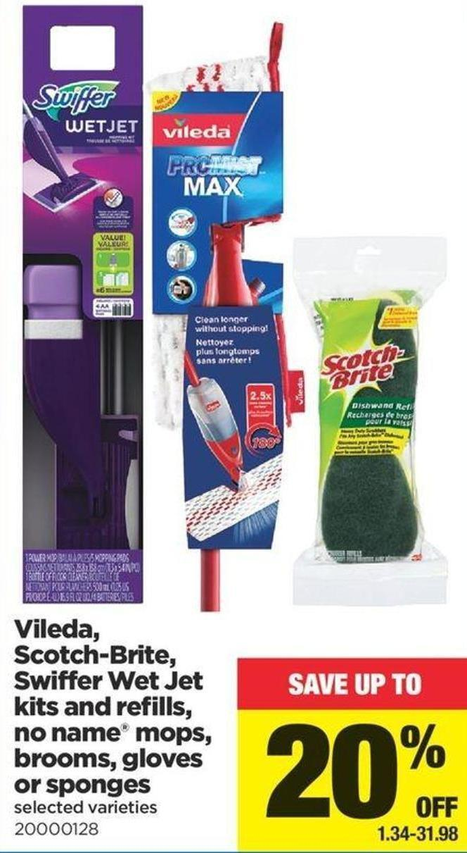 Vileda - Scotch-brite - Swiffer Wet Jet Kits And Refills - No Name Mops - Brooms - Gloves Or Sponges