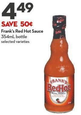 Frank's Red Hot Sauce  354ml Bottle