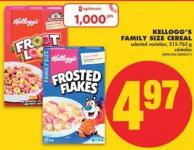 Kellogg's Family Size Cereal - 515-765 g