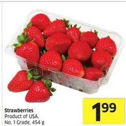 Strawberries Product of USA - No. 1 Grade.