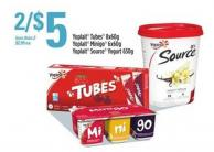 Yoplait Tubes - 8x60g Yoplait Minigo - 6x60g Yoplait Source Yogurt - 650g
