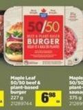 Maple Leaf 50/50 Beef & Plant-based Burger - 227 g