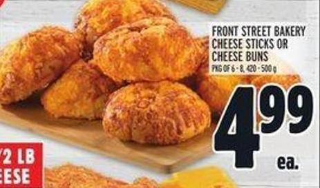 Front Street Bakery Cheese Sticks Or Cheese Buns