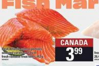 Fresh Atlantic Salmon Portions - 113 g Or Fresh Rainbow Trout Fillets - 142 G