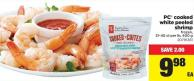 PC Cooked White Peeled Shrimp - 31-40 Ct Per Lb - 400 g