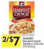 Quaker Harvest Crunch Cereal
