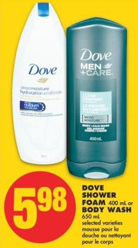 Dove Shower Foam - 400 Ml Or Body Wash - 650 Ml