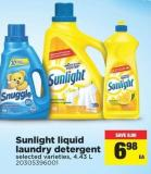 Sunlight Liquid Laundry Detergent - 4.43 L