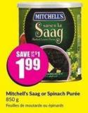 Mitchell's Saag or Spinach Purée 850 g