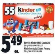 Ferrero Kinder Mini Chocolate 330 g