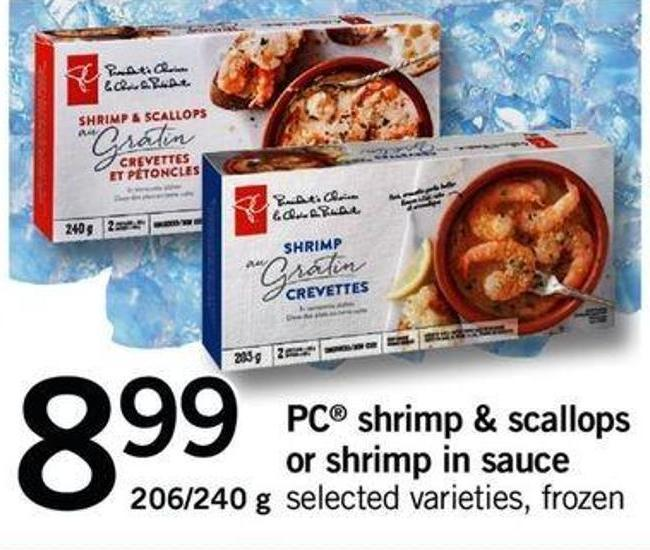 PC Shrimp & Scallops Or Shrimp In Sauce - 206/240 G
