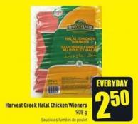 Harvest Creek Halal Chicken Wieners 908 g