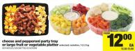 Cheese And Pepperoni Party Tray Or Large Fruit Or Vegetable Platter - 1-2.2 Kg