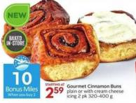 Gourmet Cinnamon Buns Plain or With Cream Cheese - 10 Air Miles