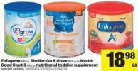 Enfagrow - 680 G - Similac Go & Grow - 850 G Or Nestlé Good Start 3 - 850 G - Nutritional Toddler Supplement