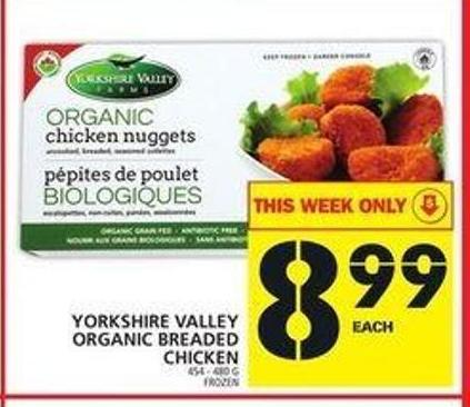 Yorkshire Valley Organic Breaded Chicken