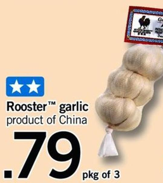 Rooster Garlic - Pkg of 3