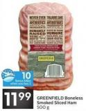 Greenfield Boneless Smoked Sliced Ham 500 g - 10 Air Miles Bonus Miles