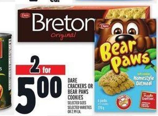 Dare Crackers Or Bear Paws Cookies