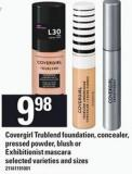 Covergirl Trublend Foundation - Concealer - Pressed Powder - Blush Or Exhibitionist Mascara
