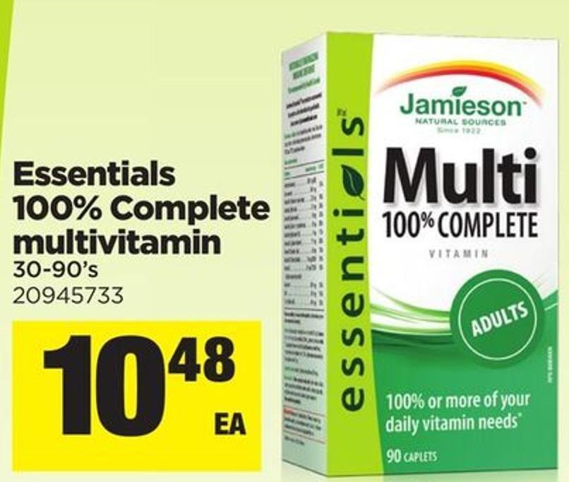 Essentials 100% Complete Multivitamin - 30-90's
