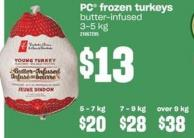 PC Frozen Turkeys - 3-5 Kg