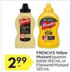 French's Yellow Mustard Squeeze Bottle
