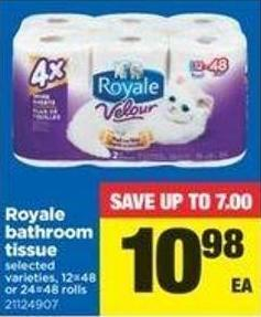 Royale Bathroom Tissue - 12=48 Or 24=48 Rolls