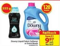 Downy Liquid Fabric Softener or Scent Beads