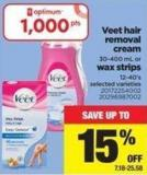 Veet Hair Removal Cream - 30-400 Ml Or Wax Strips - 12-40's