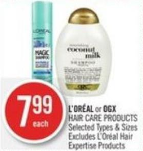 L'oréal or Ogx Hair Care Products