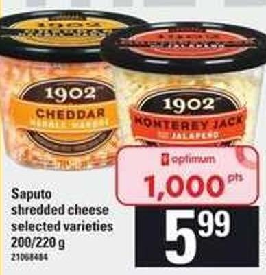 Saputo Shredded Cheese - 200/220 g