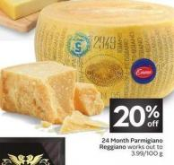 Emma 24 Month Parmigiano Reggiano Works Out To 3.99/100 g