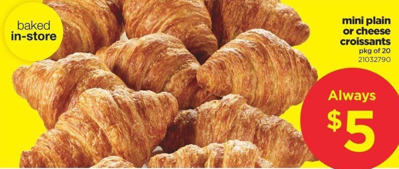 Mini Plain Or Cheese Croissants - Pkg Of 20
