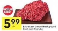 Extra Lean Ground Beef Ground Fresh Daily