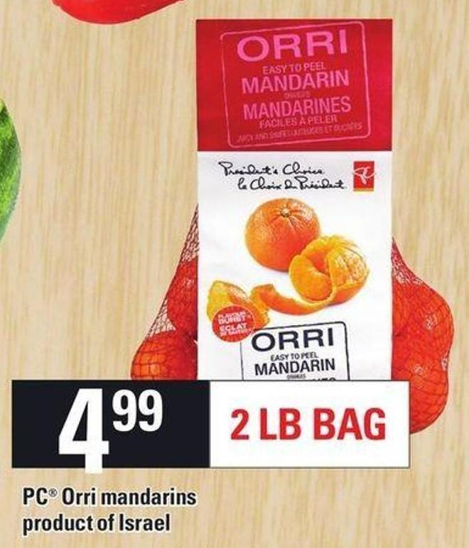 PC Orri Mandarins Product of Israel