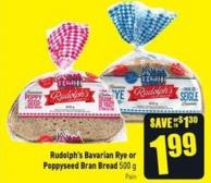 Rudolph's Bavarian Rye or Poppyseed Bran Bread 500 g