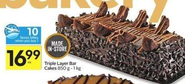 Triple Layer Bar Cakes - 10 Air Miles Bonus Miles