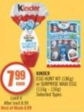 Kinder Egg Hunt Kit (186g) or Surprise Maxi Egg (116g - 150g)